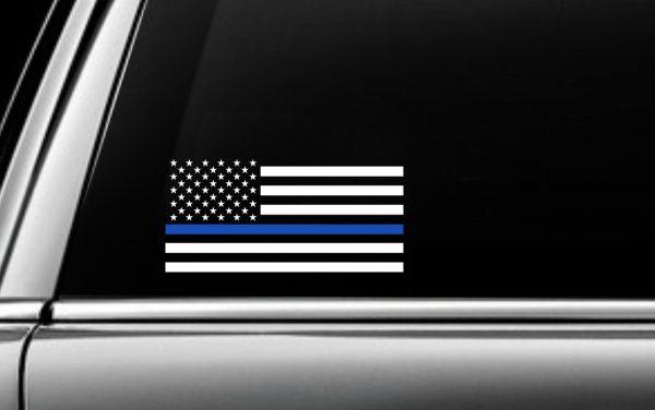 Blue USA Striped Flag Decal