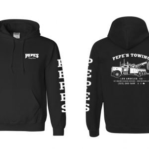 Pepes Black Hoodie - Front and Back