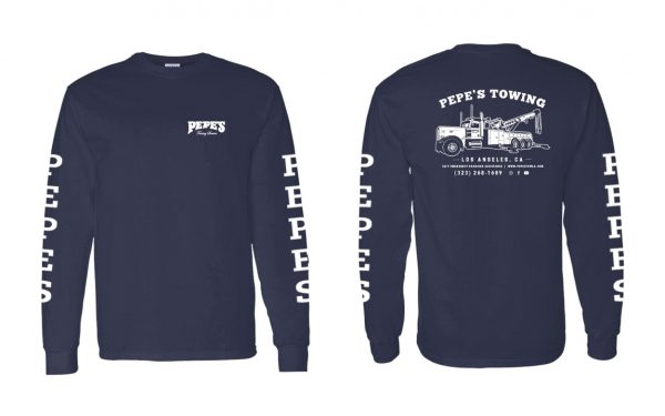Pepe's Long Sleeve Full Print Navy