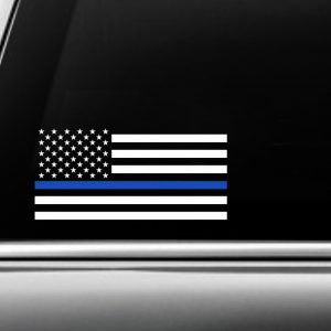 Blue USA Striped Flag Decal