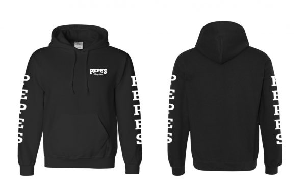 Pepes Black Hoodie - Front and Sides
