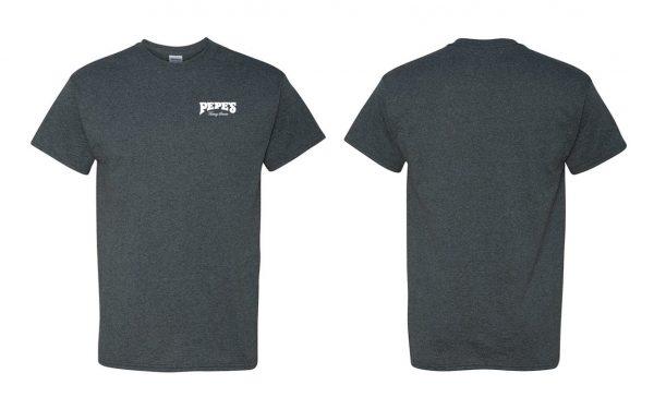 Pepe's Short Sleeve Print Heather Grey Shirt